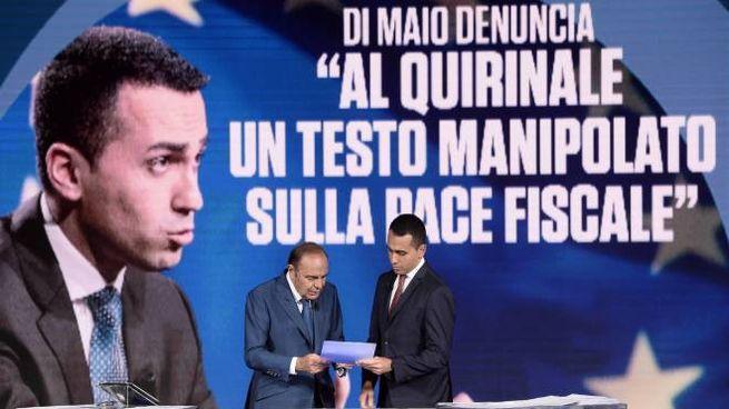Luigi DI Maio a 'Porta a Porta' (Lapresse)