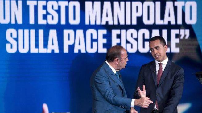 Pace fiscale, Di Maio a 'Porta a Porta' (Ansa)