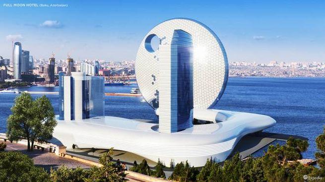 Il progetto dell'hotel Full Moon di Baku - Foto: Expedia