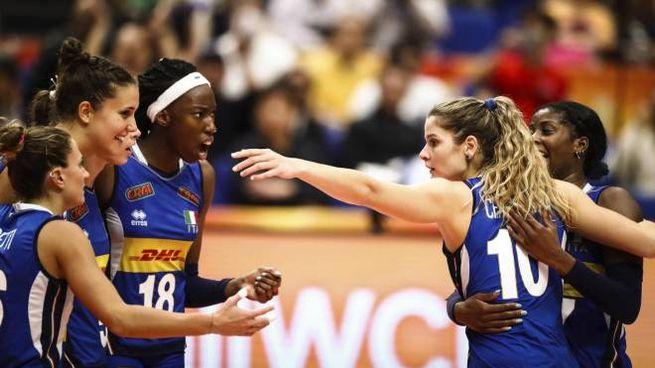 Mondiale volley, Italia oltre le aspettative (Ansa)