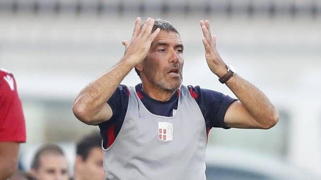 Gian Luca Righetti, allenatore del Rimini, ha rassegnato  le dimissioni questa mattina (foto Liverani)