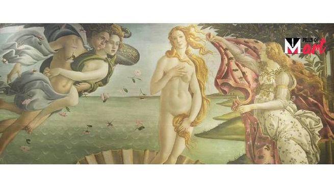Nascita di Venere - Sandro Botticelli (Gallerie degli Uffizi Firenze)
