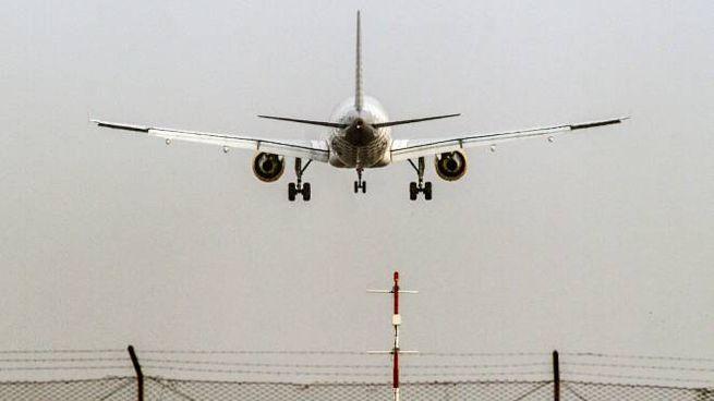 L'atterraggio di un aereo