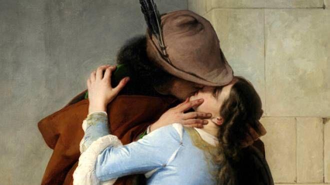 """Il mercante possedeva una copia del 1861 del """"Bacio"""" di Hayez"""