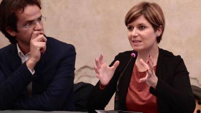 Il sindaco Brenda Barnini con il consigliere regionale Enrico Sostegni agli Agostiniani