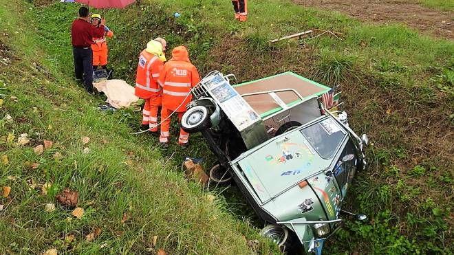 Incidente a Lugo (foto Scardovi)