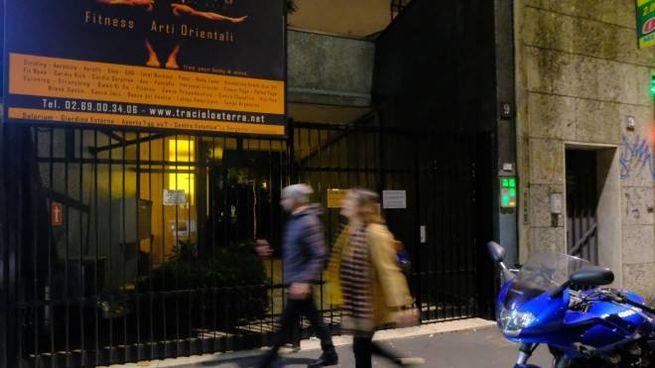 L'ingresso della palestra in viale Zara 9