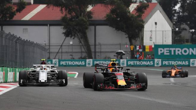 Un momento della gara in Messico