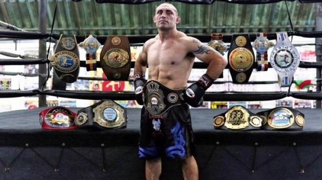 Il thaiboxer Christian Daghio