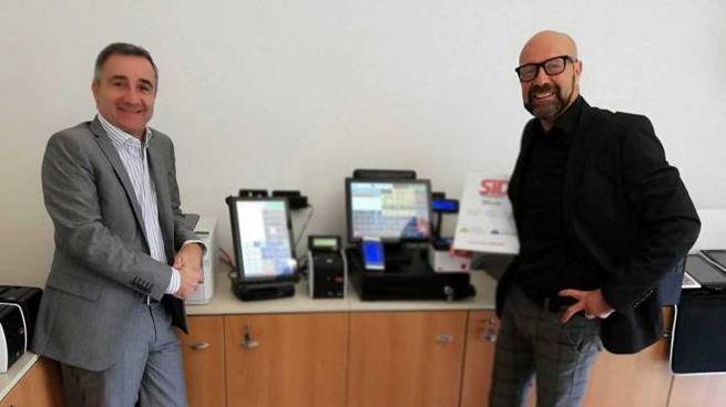 Da sinistra l'ad Renzo Zaghini e il direttore commerciale Giuseppe Canestrari