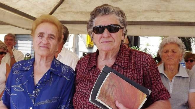Vittoria Tognozzi e Tosca Lepori, sopravvissute all'Eccidio e l'ex sergente nazista Johann Riss