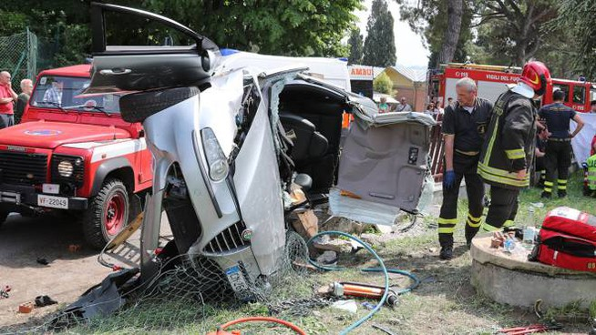 Un incidente in via Punta
