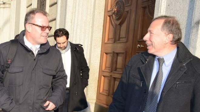 Virginio Brivio e Giovanni Fornoni, segretario Pd