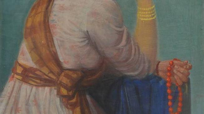 """Un dettaglio della """"Elena di Troia"""" di Achille Funi"""