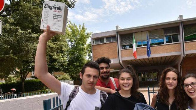 Alcuni studenti delle scuole superiori di Forlì