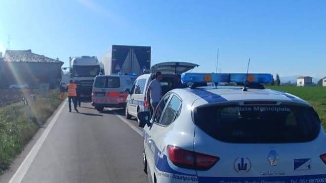 Incidente a San Giovanni in Persiceto (foto Radogna)