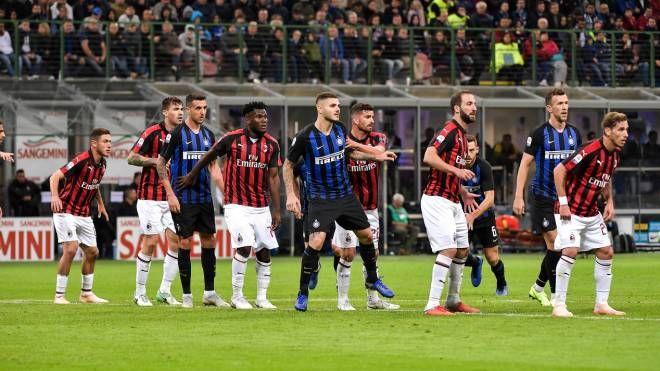 Un'istantanea dell'ultimo derby di Milano