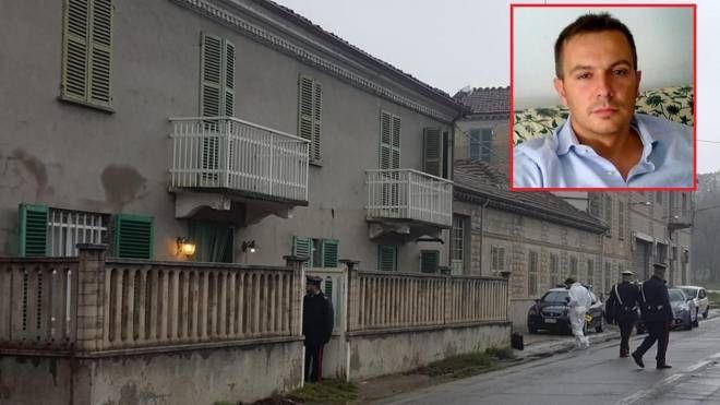 La casa del 90enne e nel riquadro la vittima Marco Massano (Ansa)