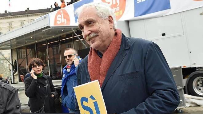ll commissario per la Torino-Lione Paolo Foietta alla manifestazione Sì Tav (Ansa)