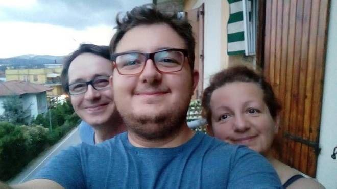 Patrick Ceccomarini con i genitori