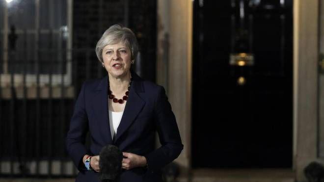La premier britannica Theresa May (Ansa)