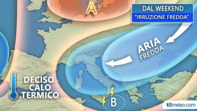 Previsioni meteo, venerdì la svolta con l'arrivo di aria fredda dalla Russia (3bmeteo.com)