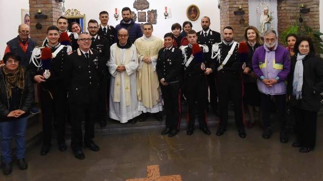 Bologna, i carabinieri del Navile all'Opera Padre Marella (FotoSchicchi)