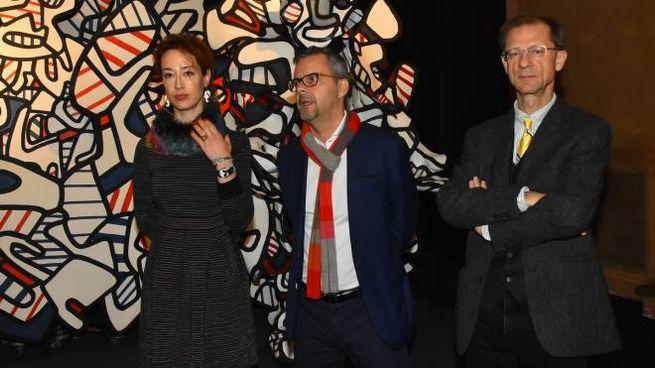 I curatori Martina Mazzotta, Frédéric Jaeger  e Giorgio Bedoni