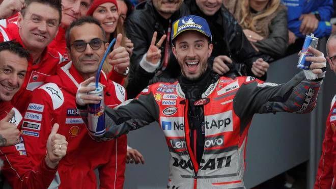 Motogp Valencia 2018, trionfo di Dovizioso a Valencia (Ansa)
