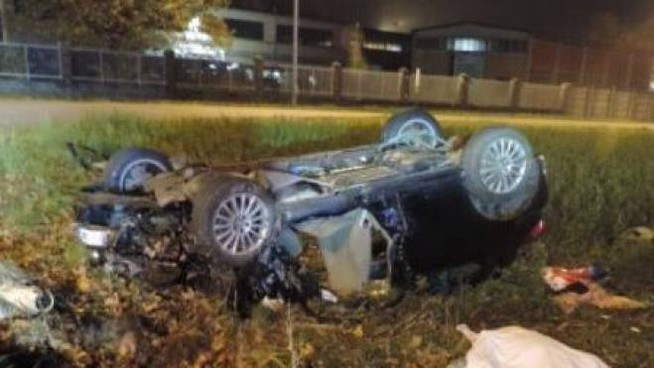 L'auto del tragico incidente