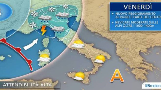 3bmeteo.com, le previsioni del tempo per venerdì