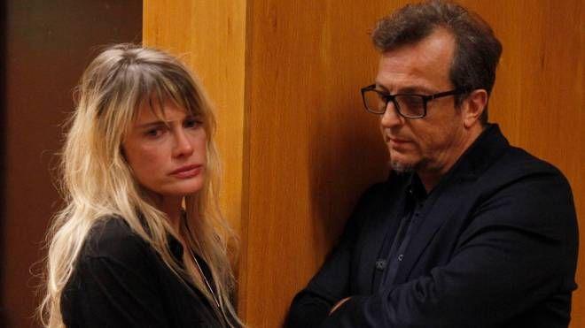 Elena Majoni e Gabriele Muccino in aula (foto Corelli)