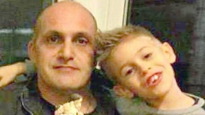 Gianfranco Zani con il figlio Marco, morto a 11 anni
