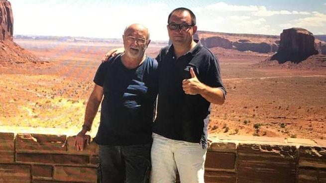 Antonino e Francesco Masetti insieme durante una vacanza: il 38enne era indagato per la morte del padre