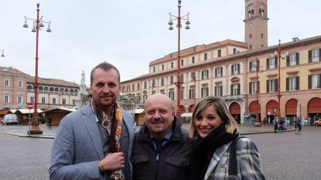 Da sinistra l'assessore Marco Ravaioli, il sindaco Davide Drei e l'assessore Francesca Gardini