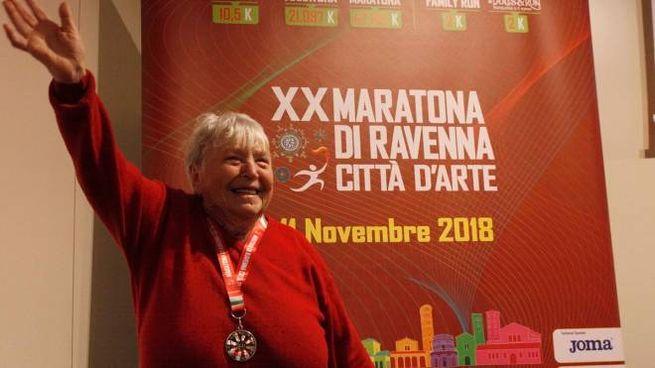 Valeria Corelli con la medaglia di Annafietta