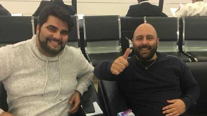 I dipendenti Cmc: il portoghese Riccardo Pinella e il cesenate Andrea Ursoli