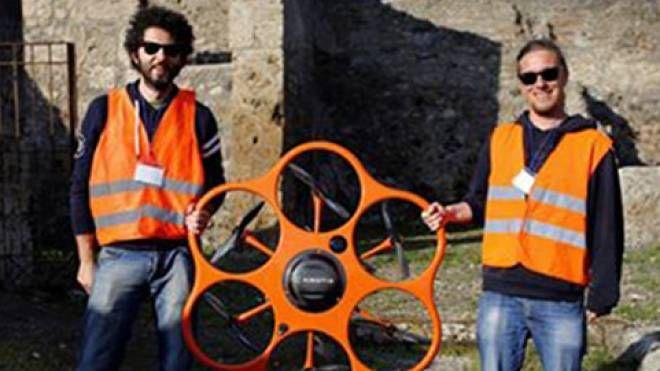 L'equipe senese in Iraq con il drone