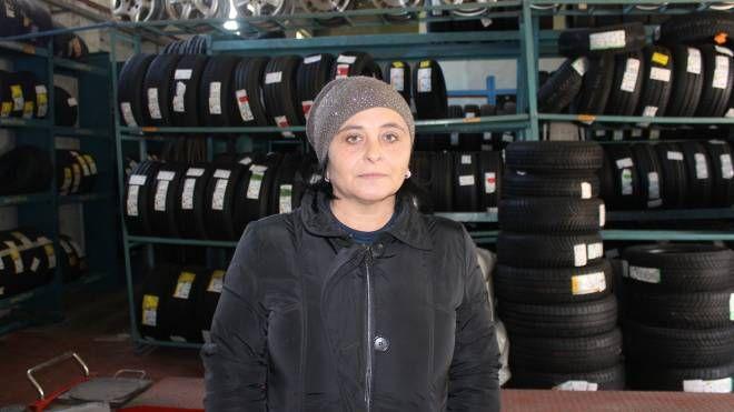 Lara Salicini, gommista di Portomaggiore