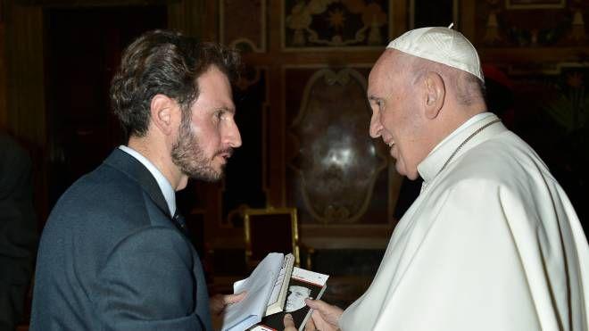 Il sindaco Manzoni con Papa Francesco
