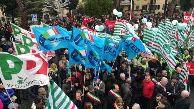Un momento della manifestazione a Larderello