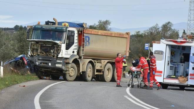 La scena dell'incidente (Foto Agostini)
