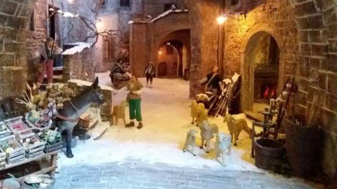 Il presepe di Città di Castello (Foto Facebook Amici del Presepe Monte Porzio Catone)