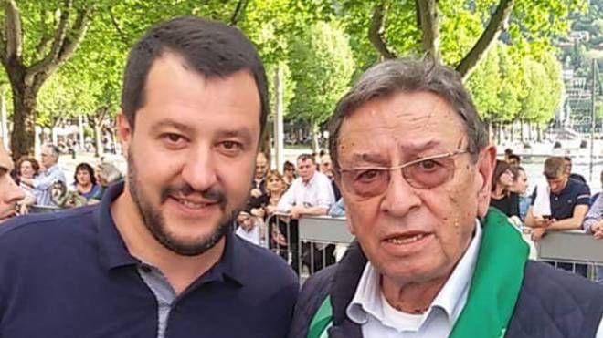 Luciano Colombo con Matteo Salvini