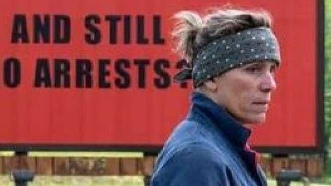 "Frances McDormand in ""Tre manifesti a Ebbing, Missouri"""