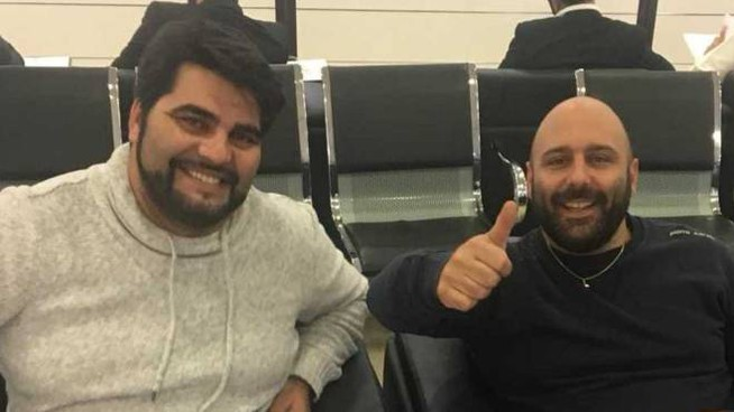 Ricardo Pinela e Andrea Urciuoli, bloccati in Kuwait