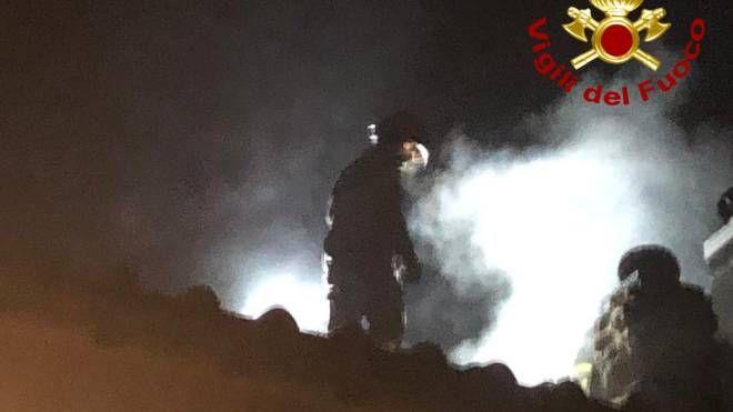 Incendio in via Branaccia ad Agliana
