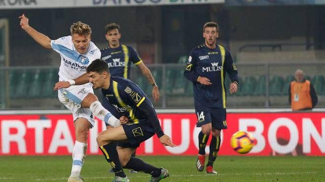 Ciro Immobile sigla il gol del pareggio al Bentegodi