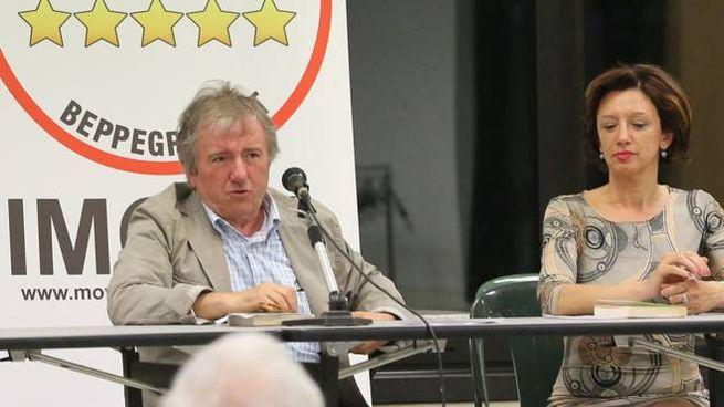 Ezio Roi con la sindaca Manuela Sangiorgi