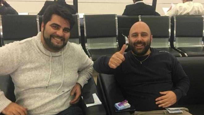 Da sinistra, Ricardo Pinela e Andrea Urciuoli in Kuwait